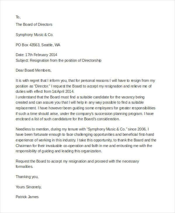 30+ Resignation Letter Examples