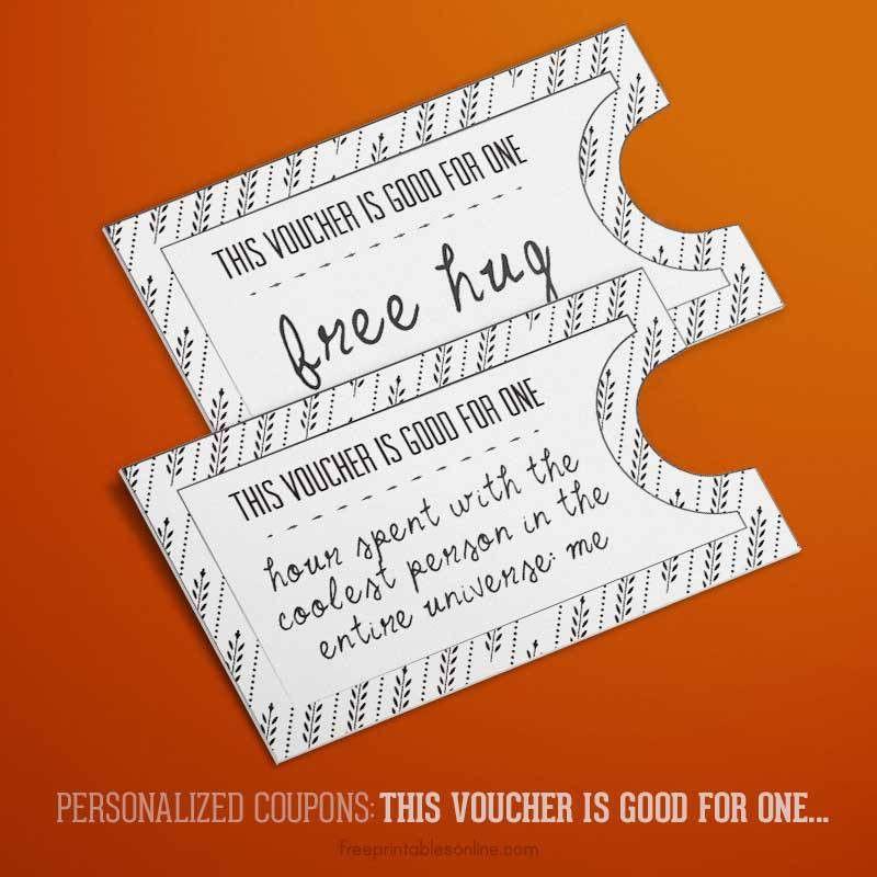 Printable IOU Coupons | Free Printables Online