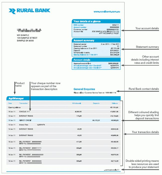 Bank Statement Template | cyberuse