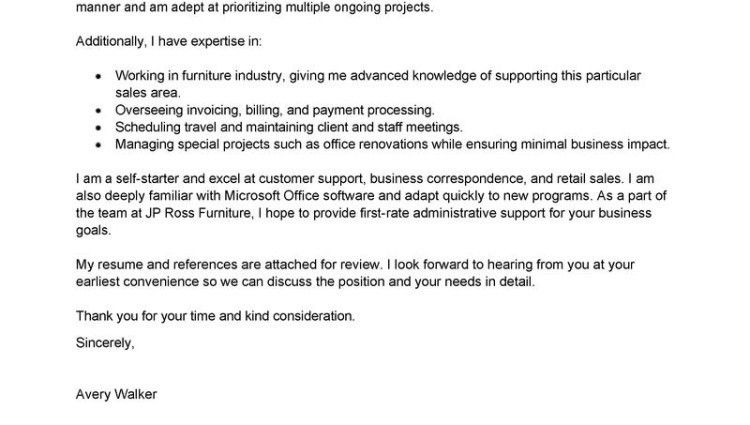staff assistant cover letter