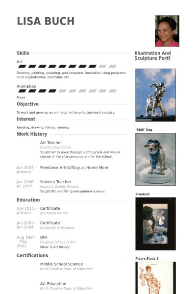 art educator resume