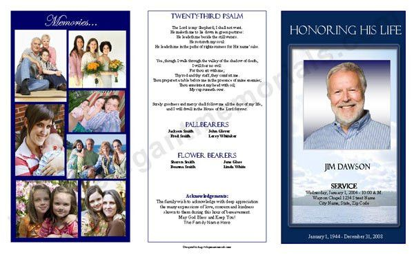 Funeral Program Template Samples Archives - FuneralProgram ...
