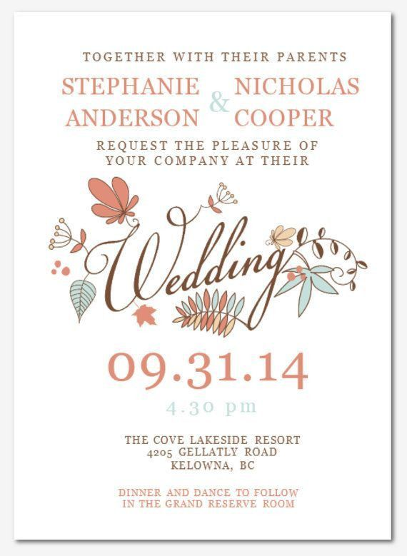 Wedding Invitation Templates For Word | PaperInvite