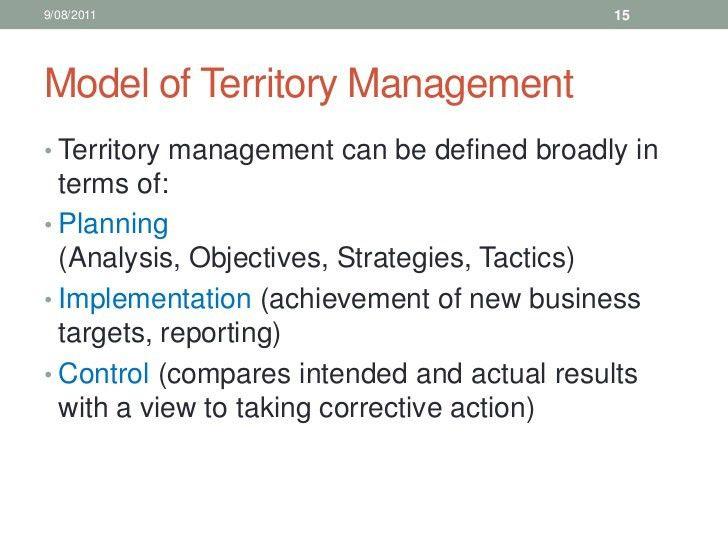 10. sales training territory management