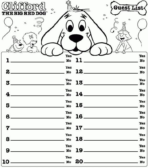 7 Guest List Templates - Excel PDF Formats