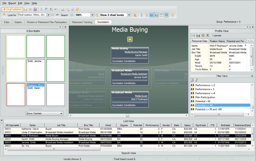 Org Chart Software with Succession & Modeling - Aquire ...
