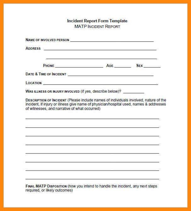 7+ incident report form | nurse resumed