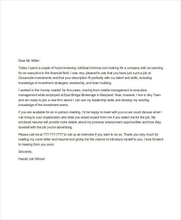 Job Application Cover Letter. Cover Letter Format For Job ...