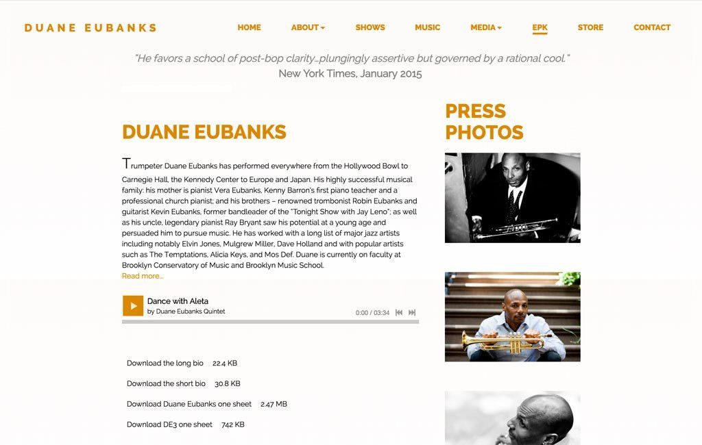Website Design Inspiration: Best Electronic Press Kits (EPKs)