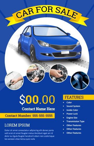 CAR for SALE Flyer Templates for MS Word | Word & Excel Templates