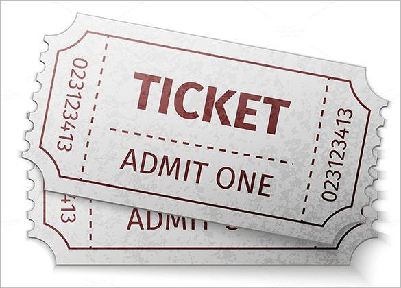 Ticket Template – 97+ Free Word, Excel, PDF, PSD, EPS Formats ...