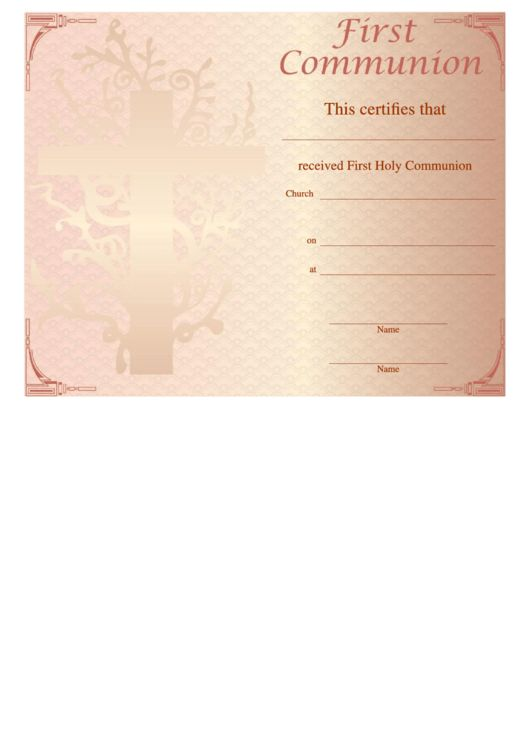 33 Religious Certificate Templates free to download in PDF, Word ...