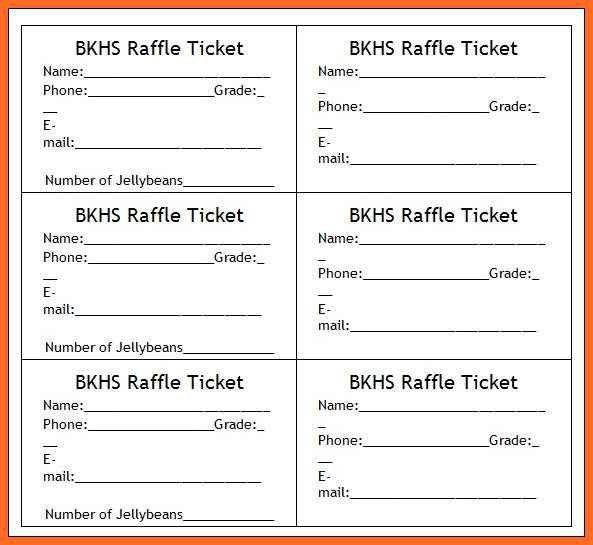 raffle ticket template word | soap format