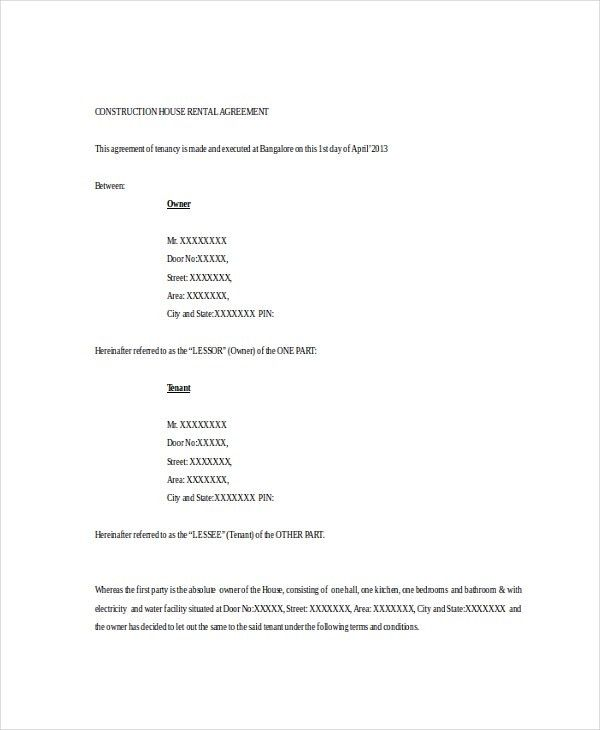 15+ Basic Rental Agreement Templates – Free Sample, Example Format ...