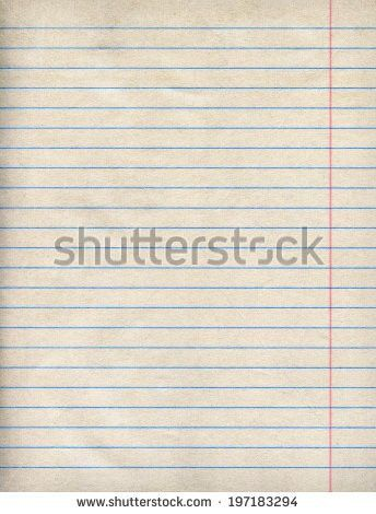 Sheet Lined Paper Notebook Paper Texture Stock Photo 175830590 ...