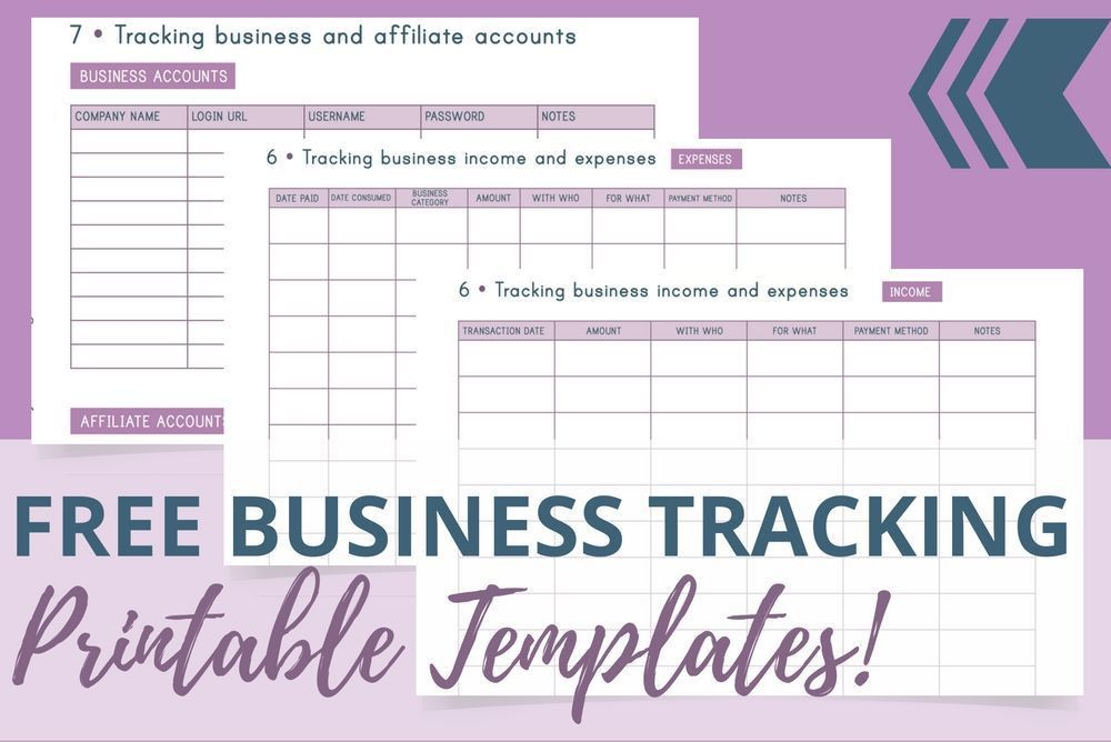 FREE Business Tracking Printable Templates - Redefining Mom