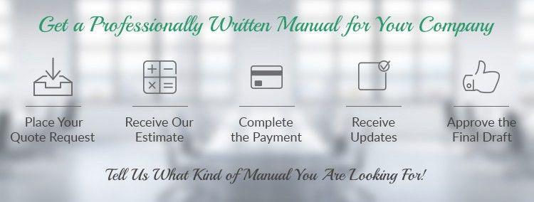 Professional Manual Writing Template   Manual Writing