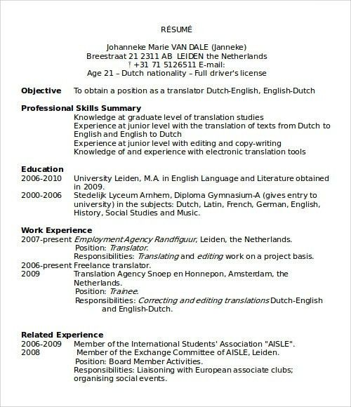Resume Format Microsoft Word Resume Examples Microsoft Word Resume ...