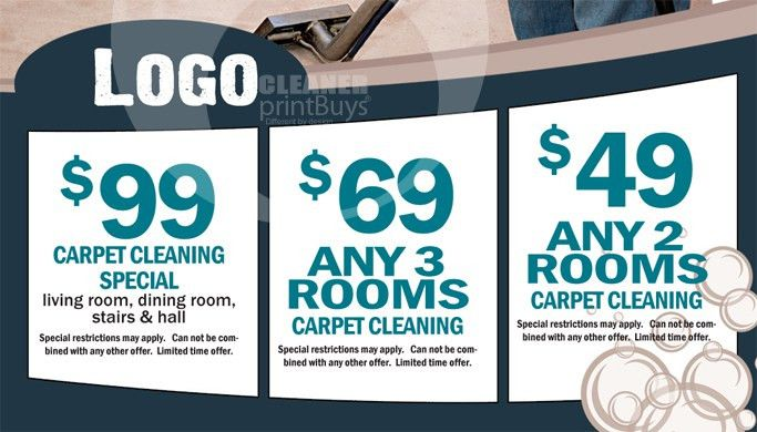 Carpet Cleaning Business Cards #C0004 (BACK VIEW)