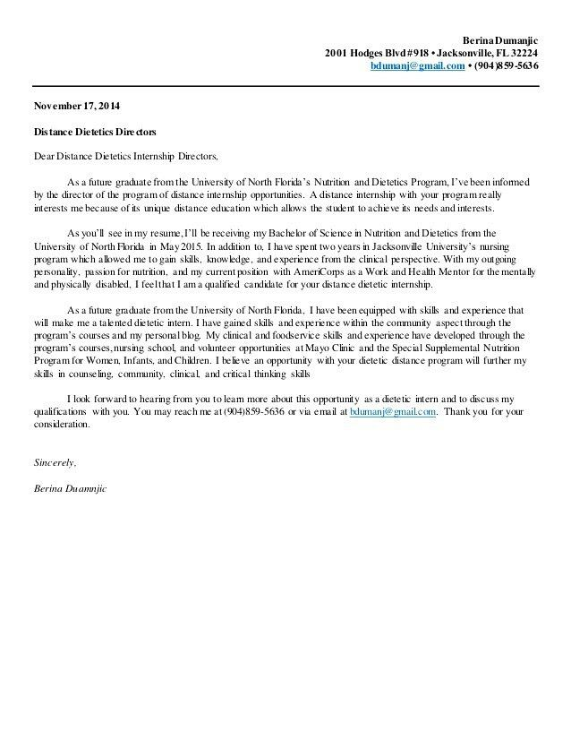 8 Dietitian Cover Letter Cover Letter sample cover letter for ...