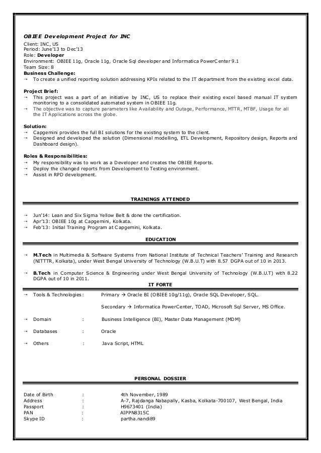 Obiee Sample Resume] Arabic Linguist Resume Sample Gpa Obiee ...