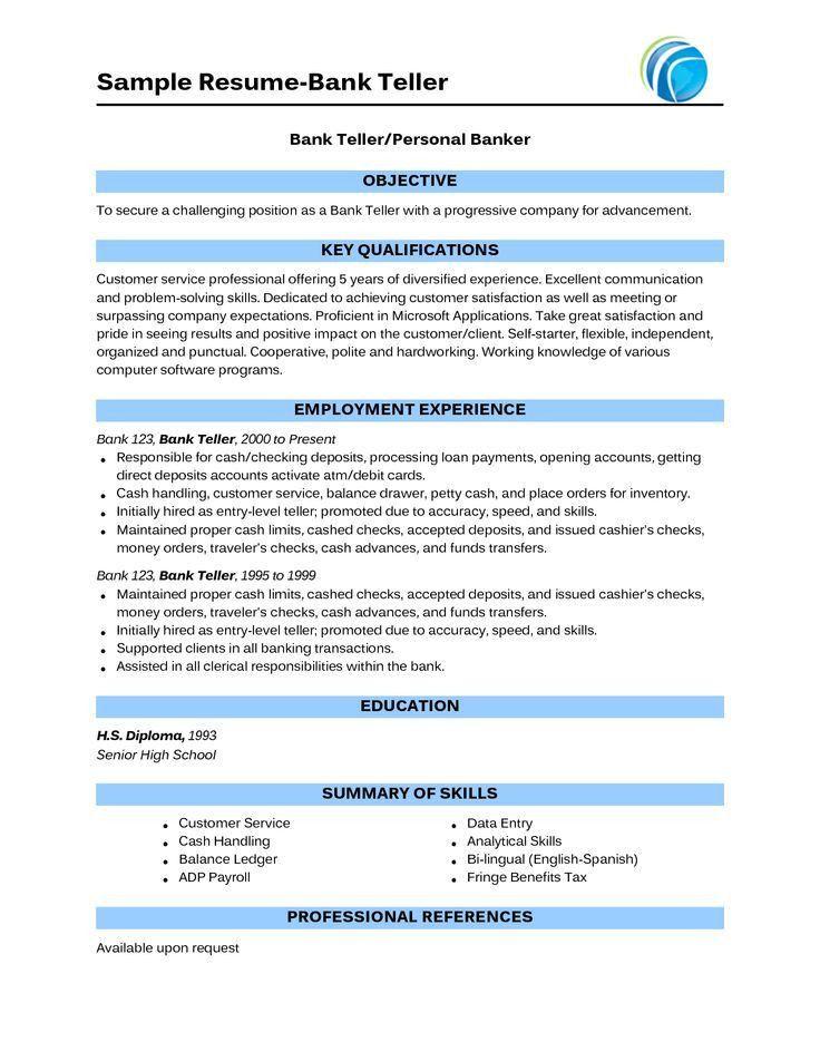 How to Write of Bank Teller Resume Sample - SampleBusinessResume ...