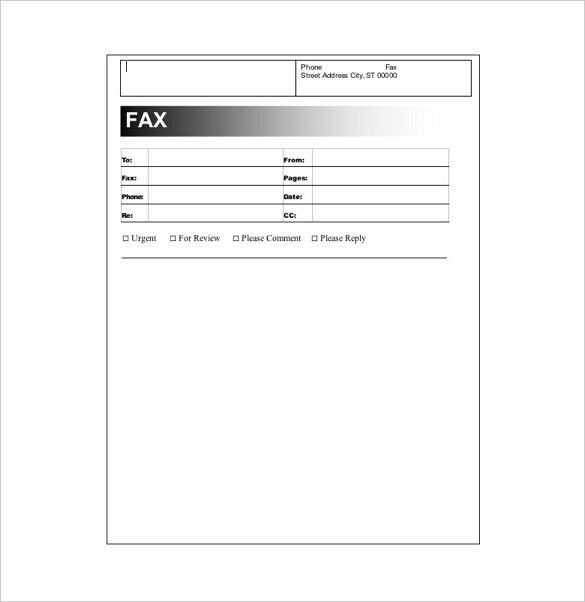 Fax Cover Example. Basic #1 Fax Cover Sheet At Freefaxcoversheets ...