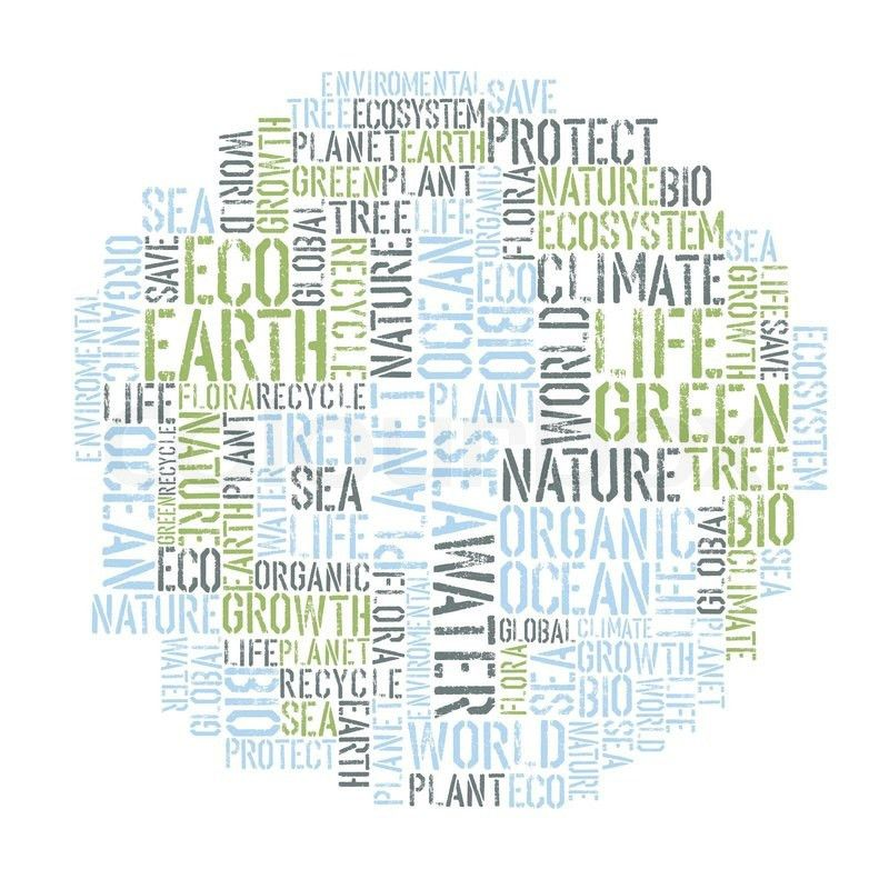 Ecology Earth concept word collage Environmental poster design ...