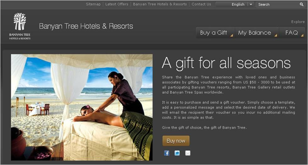 Hotel Gift Voucher Programme Unveiled by Banyan Tree Resorts