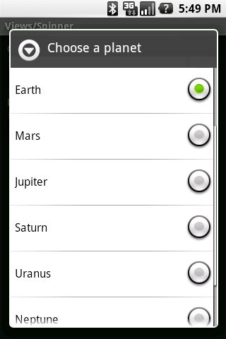 """How to make an Android Spinner with initial text """"Select One ..."""