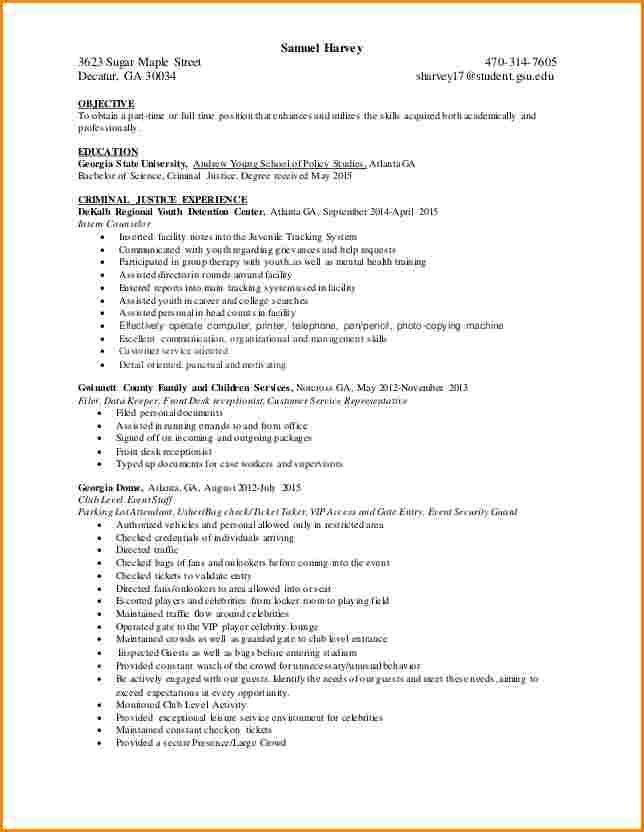 8+ criminal justice resume | worker resume