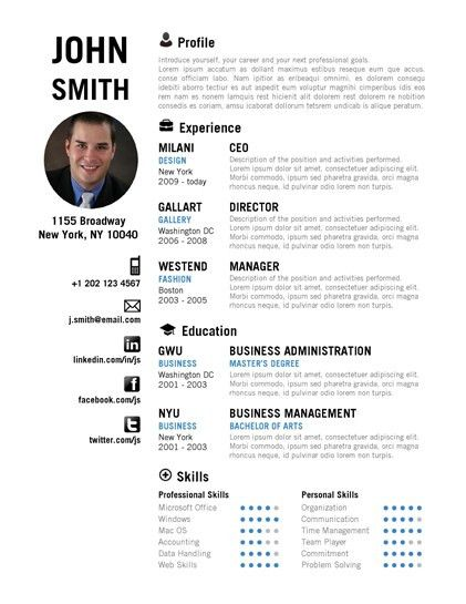 CREATIVE Resume Template - Trendy Resumes