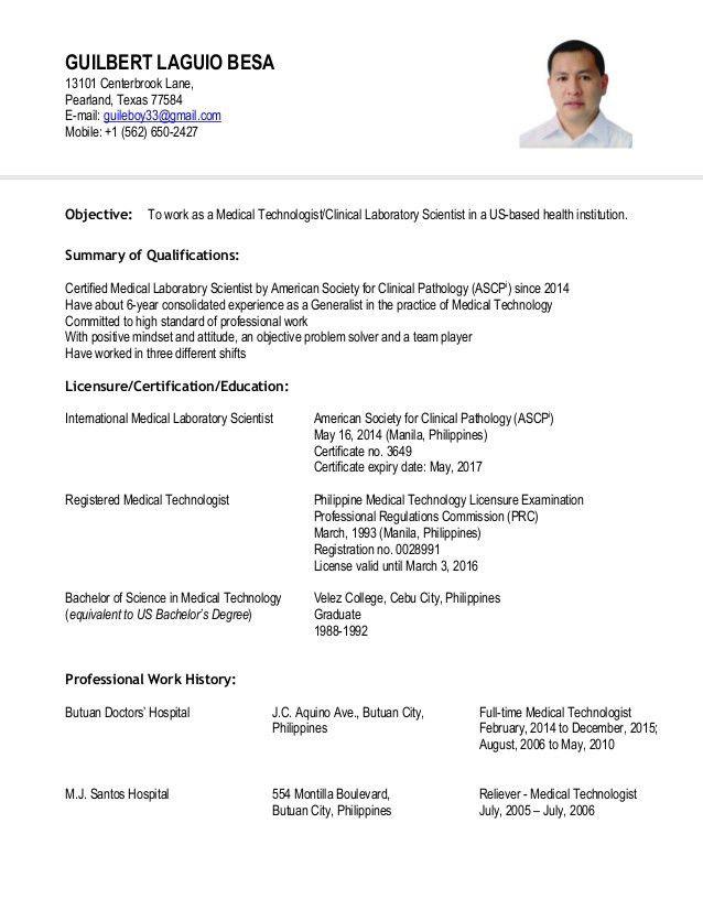 certified medical technician resume technician resume example