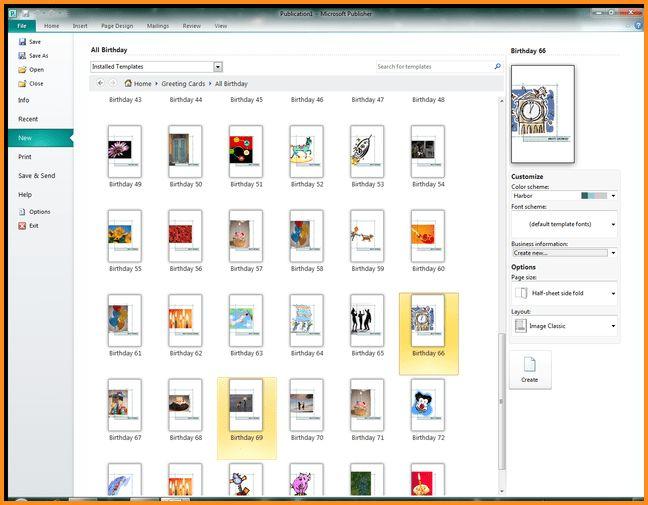 template microsoft publisher