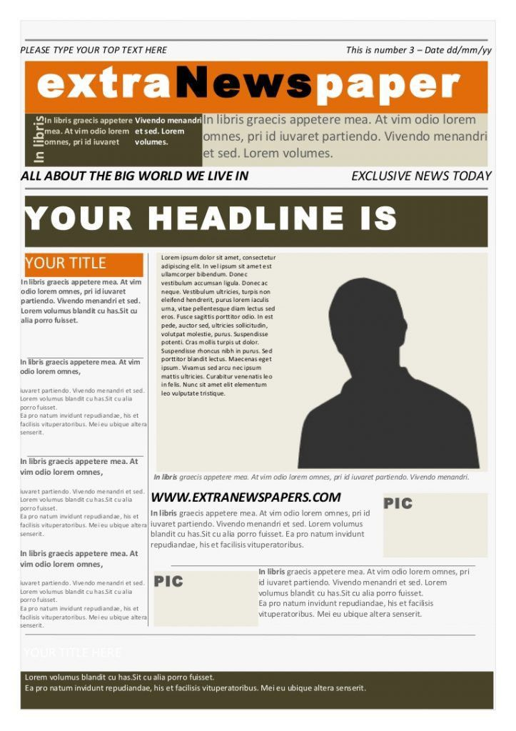 Free Newspaper Template Word - Contegri.com