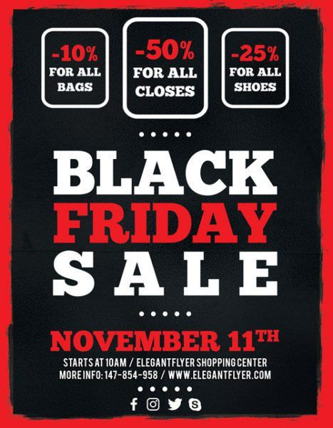 Free Black Friday Sale Flyer Template for Photoshop - Download