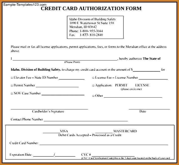 credit authorization form | notary letter
