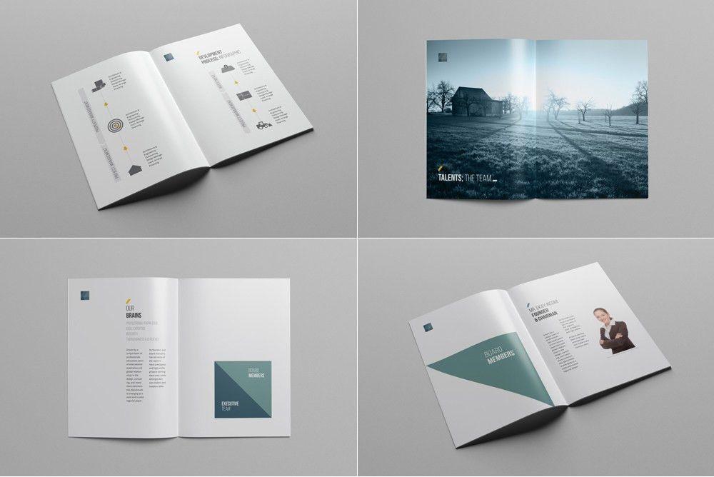 Company Profile Print Template – uxfree