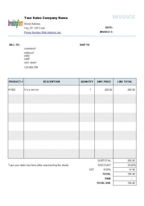 Download Self Employed Invoice Template Nz | rabitah.net