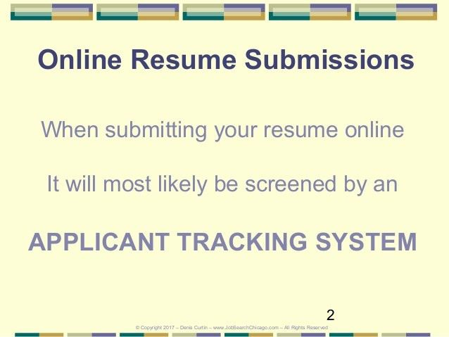 Optimize Your Resume (Will County) For Applicant Tracking Systems 2017