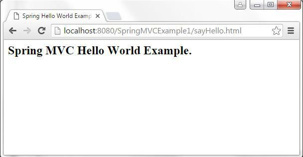 spring mvc hello world example, spring mvc hello world program ...