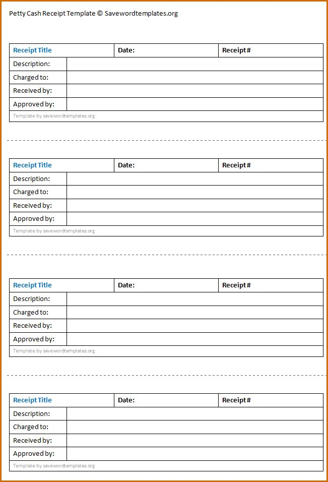 6+ cash receipt template word | Authorizationletters.org
