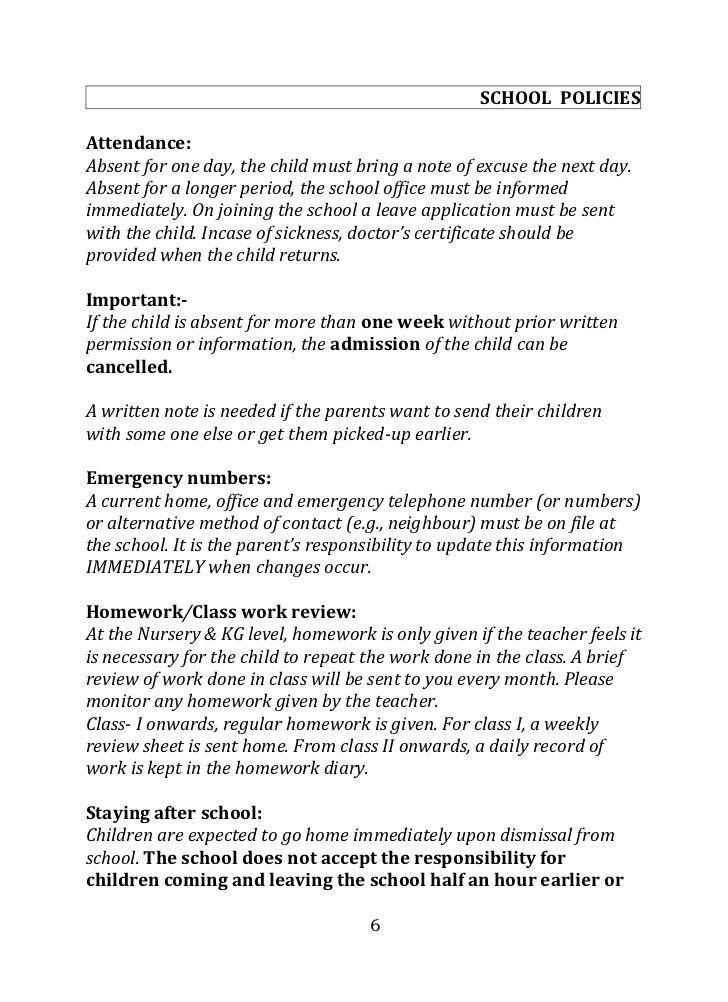 AMI School Parent Handbook Nursery Branch 2012-2013