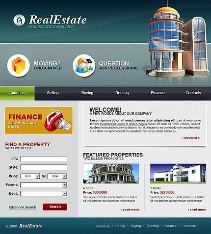 Real estate website templates, Real estate flash templates at ...