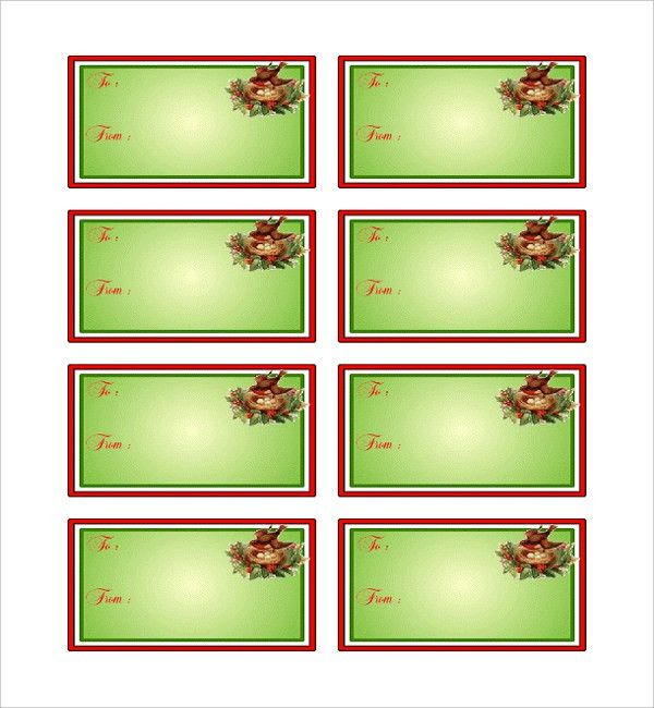 Christmas Tag Template. Christmas Address Labels: Colorful ...