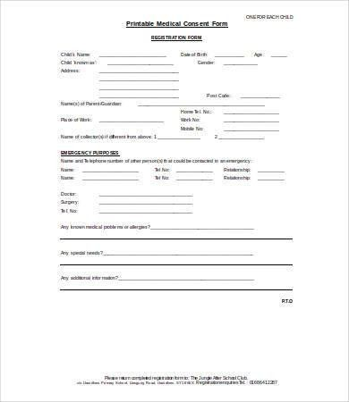 Consent FormMedical Consent Forms. Release Consent Form Template ...
