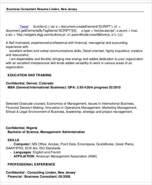 business consultant resume in pdf. new business development ...