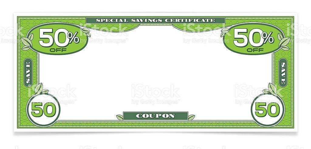 Dollar Bill Money Savings Coupon stock vector art 513430664 | iStock