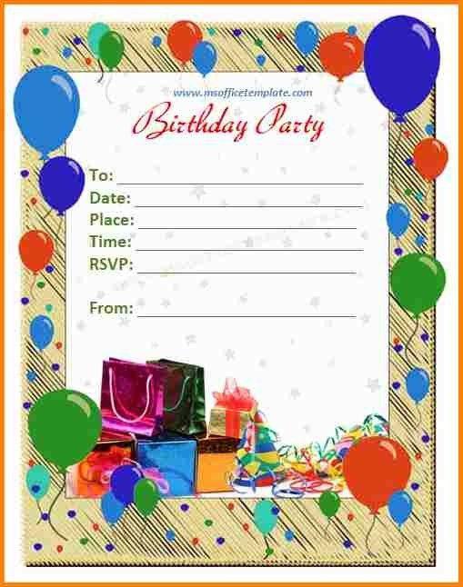 5+ birthday invitation card template | artist resume