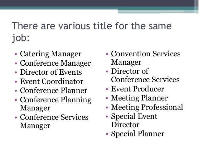 Chapter 2 The Event Manager and Its Duties and Responsibilities